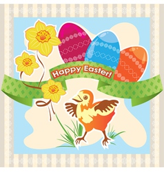 Greetings card happy easter vector