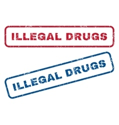 Illegal drugs rubber stamps vector