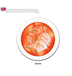 Kimchi or korean salted cabbage or vegetables vector