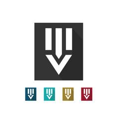 letter v icon logo vector image