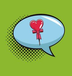 lollipop in bubble pop art cartoon vector image