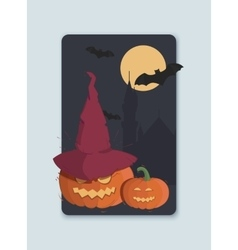on the theme of Halloween invitation vector image vector image