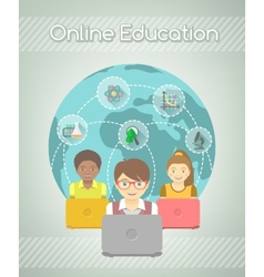 Online education for kids vector