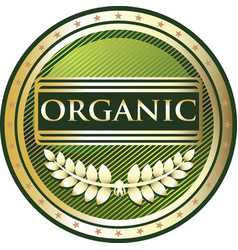 Organic gold label vector