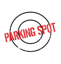 Parking spot rubber stamp vector