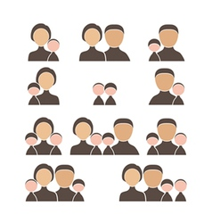 People family icon set vector