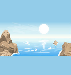 seascape with stones vector image vector image