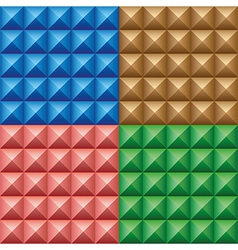 Set of convex pyramids vector