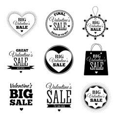 Set of valentines day sale offers vector