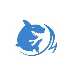 Shark And Wave Print vector image