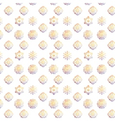 Snowflakes christmas and new year design pattern vector