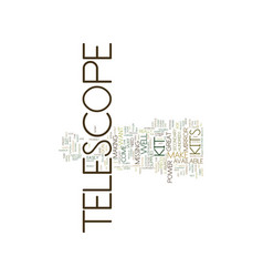 Telescope kit text background word cloud concept vector