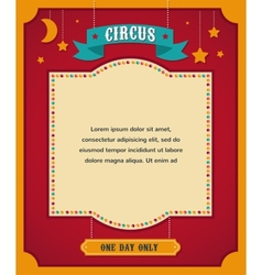 vintage circus poster background with carnival vector image vector image