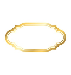 Gold frame simple golden style white vector