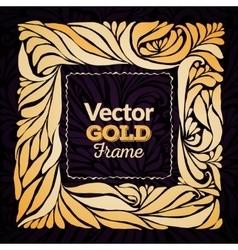 Gold ornament frame vector image
