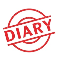 Diary rubber stamp vector
