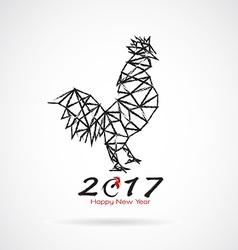 Roosters 2017 new year vector