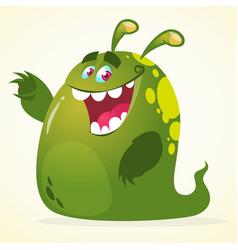 Cartoon green blob monster vector