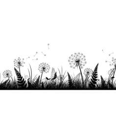 Field in black and white vector