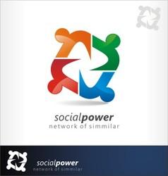 social power vector image