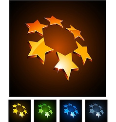 3d vibrant constellation emblems vector