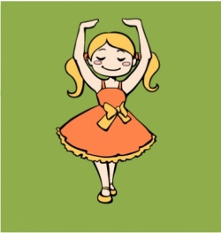 Dancing ballerina girl vector