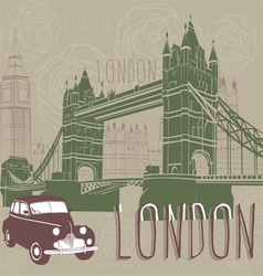Journey to london vector
