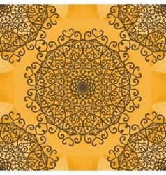 Mandala print indian yoga ornament kaleidoscopic vector