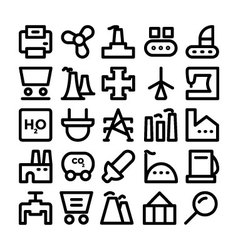 Industrial icons 9 vector