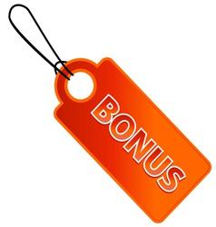 Bonus tag with price list vector image