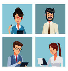 Business people cartoon vector