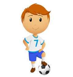 cartoon footballer vector image vector image