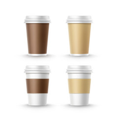 Cups for and tea coffee vector