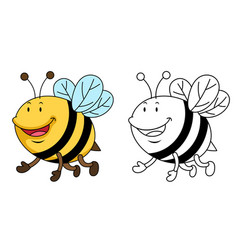 Educational coloring book-bee vector