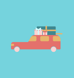 flat icon of car gifts vector image vector image