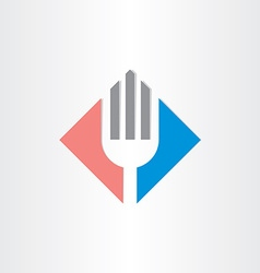 Fork icon restorant catering symbol vector