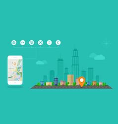 gps navigation banner vector image