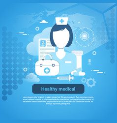 healthy medical health care application concept vector image vector image