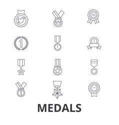 medals trophy gold medal award medallion vector image