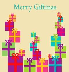 Merry Giftmas Boxes vector image