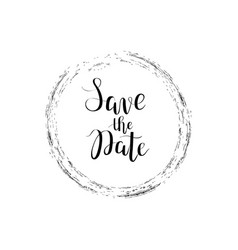 Save the date calligraphy digital drawn vector