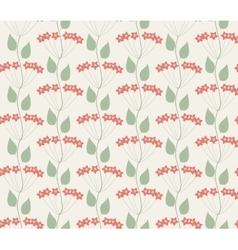 Seamless floral background with flowers vector image vector image