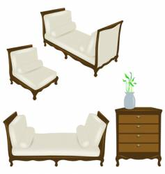 set of antique elements vector image vector image