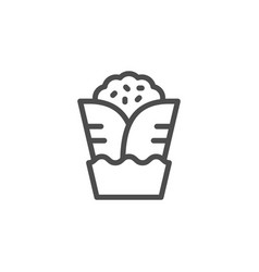 Shaurma line icon vector