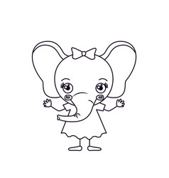 Sketch silhouette caricature of cute expression vector
