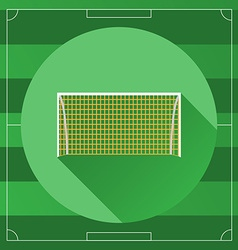 Soccer Goal round icon vector image