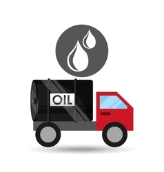 tank truck oil drop icon vector image