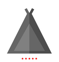 tourist tent icon different color vector image