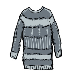 Winter pullover vector