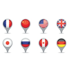 world power pointers vector image vector image
